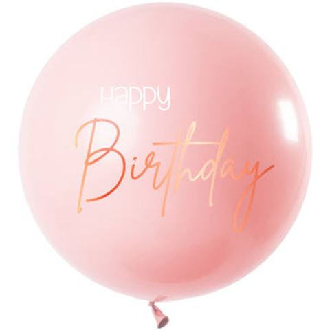 31 inch-es Happy Birthday Elegant Lush Blush