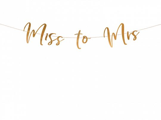 Felirat - Miss to Mrs